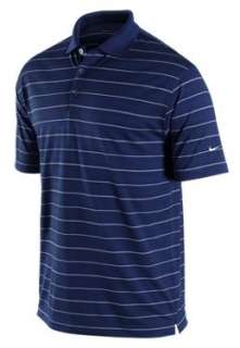 Fit Tech Core Stripe Polo Mens Golf Shirt SS College Navy $50