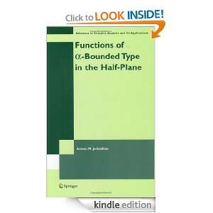 Functions of a Bounded Type in the Half Plane (Advances in Complex