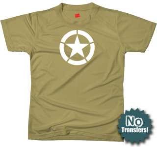 Broken Star US Army Military WW2 2 Jeep NEW War T shirt