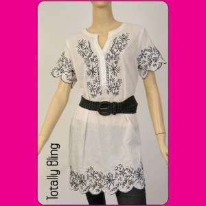 White oversized shirt,blouse,tunic,top,belt.Choose size