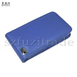 HQ Blue Wallet Leather Flip Case Cover Skin For iPod Touch 4 4th 4G