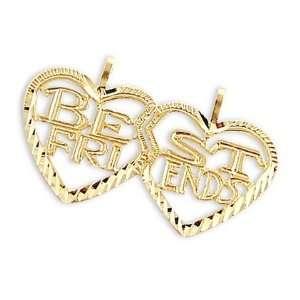 Heart Best Friends Breakable Charm Pendant 14k Yellow Gold