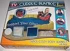 Blue Super Soft Cuddle Blanket Plus Sleeves Pocket NIB