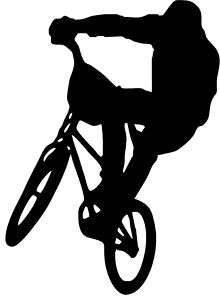BMX Bike Childs Room Vinyl Wall Decal *25 COLORS*
