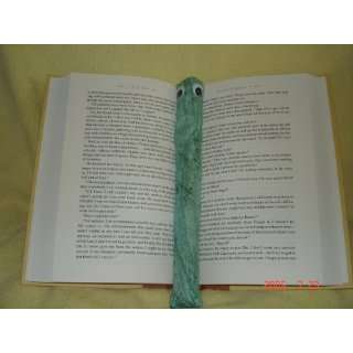 Green Splash Booksnake: A Handmade Weighted Bookmark    the Perfect
