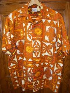 60s Vintage Hawaiian Shirt Aloha Evelyn Margolis EUC L