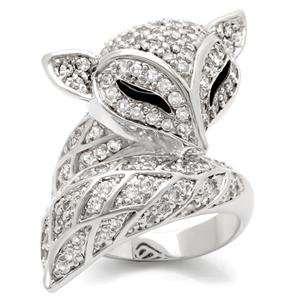 Designer Inspired Fox Pave CZ Ring Jewelry
