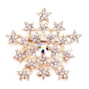 Christams Snowflake Brooches And Pins Pugster Jewelry