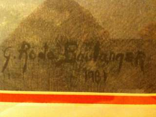 Rodo Boulanger The Opus ll Original Lithograph.