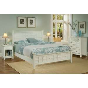 Home Styles Arts & Crafts White Queen Bedroom Set