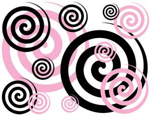 One Purchase receives FOUR Sticker Sheets of  Pink & Black Swirls