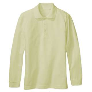 Boy Girl School Uniform Long Sleeve Shirt Yellow