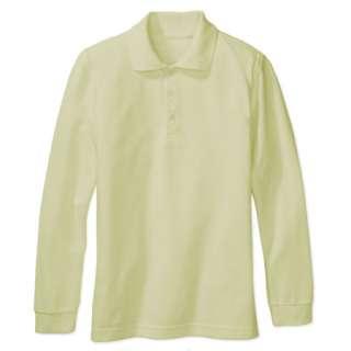 Boy Girl School Uniform Long Sleeve Shirt Yellow