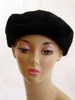 Vintage Elegant Ladies Black Felted Fur Hat Body Made In Austria