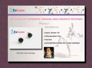Korean drama boys over flowers Kim Bum Onyx Earrings
