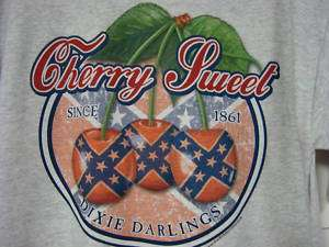 Darlings Rebel Flag Design Cherry Sweet Womens T Shirt New