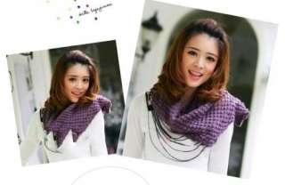 Korean Fashion Lovely Bubble Corn Dot Knitting Wool Circle Scarf Neck