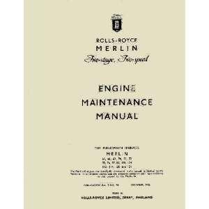 Merlin Aircraft Engine Maintenance Manual   TSD 94 Rolls Royce Books