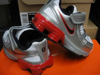 Nike Shox Turbo Silver Red Toddler Infant Shoes Sz 3