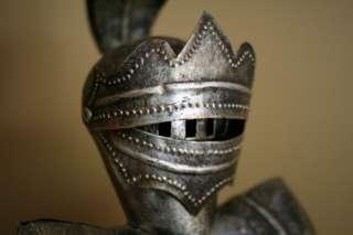 Vintage Knight Armor Statue Metal Medieval 28 Figurine