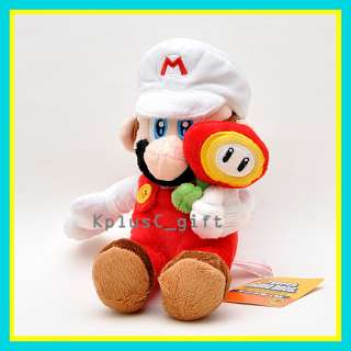 S115 Super Mario Bros Plush Mario Mushroom Fire 7