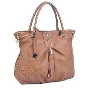 LSQ00603BR Brown Deyce Madison Quality PU Women Large Shopper Tote
