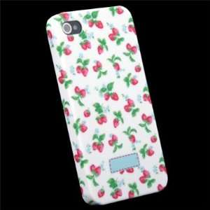Flower Slim Hard Case Cover For iPhone 4 4G Cell Phones & Accessories