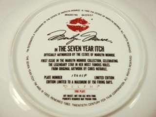 Estate of Marilyn Monroe Plate Celebrating Legend Star 1st issue Seven