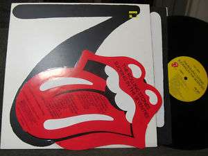 Rolling Stones Sucking In the LP W/Sticker 1981 NM rare