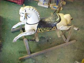 RARE Davy Crockett Bucking Horse toy Rich Toys brand