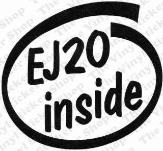 EJ20 Inside Novelty Vinyl Car Sticker/Decal   Ideal For Subaru Impreza