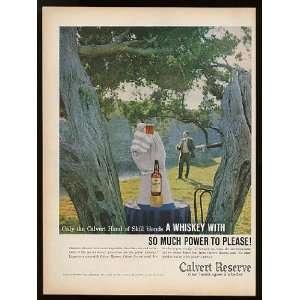 1959 Calvert Reserve Whiskey White Glove Print Ad (8317