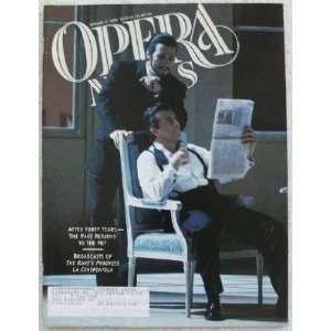 Opera News Magazine. January 17, 1998 Single Issue