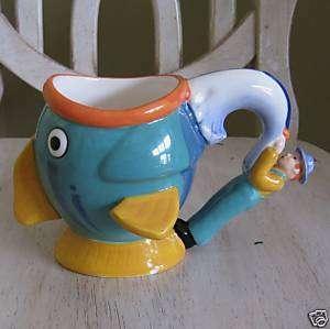 Nestle Coffee Mate Creamer Fish/Fisherman Coffee Mug