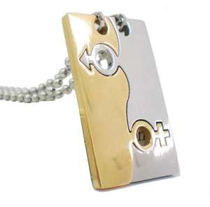 NEW Silver & Gold Couples Lovers Pendants Necklaces