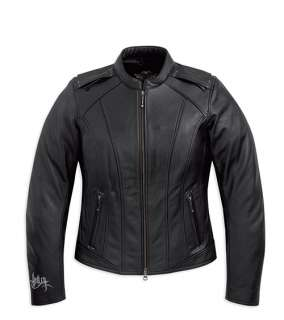 NWT Harley Davidson Ladies Majestic Leather Jacket Studs Bling 97082
