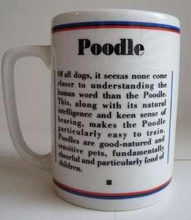 Gray POODLE Dog Portrait Ceramic Coffee Mug Cup R Maystead PAPEL