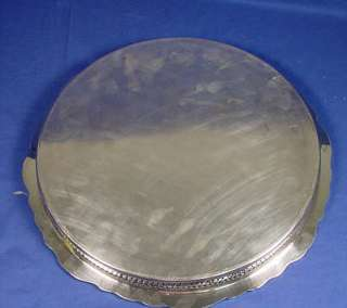 Large, Vintage HEAVY Silver Plate On Copper Gallery Serving Tray