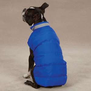 CASUAL CANINE NORTH PAW PUFFY VEST DOG WINTER COAT / JACKET BLUE NEW