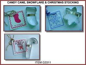 CANDY CANE/ SNOWFLAKE/ X MAS STOCKING COOKIE CUTTERS