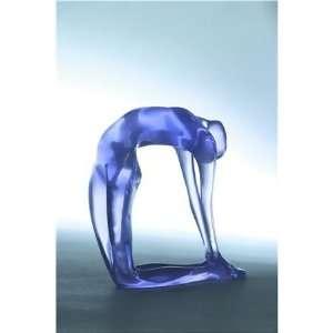 Everything Yoga Purple Yoga Figurine in Camel Pose (Ushtrasana) Large