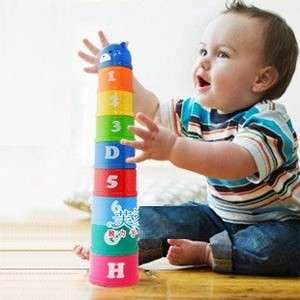 Toys Color Stacking up Random Color A H & 1 8 Cups Bear Top 6M+