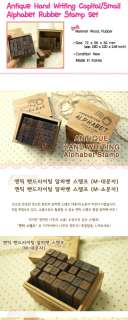 Funnyman] Antique Big/Small Alphabet Rubber Stamp   M