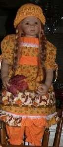 Pumpkins & Squirrels Dress Fits Annette Himstedt Doll