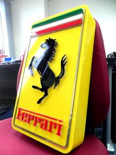 FERRARI ITALIAN AUTO CAR SQUARE LIGHT BOX SIGN