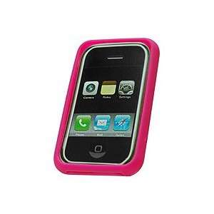 Case Cellet Apple iPhone nano Hot Pink Jelly Case Cell Phones
