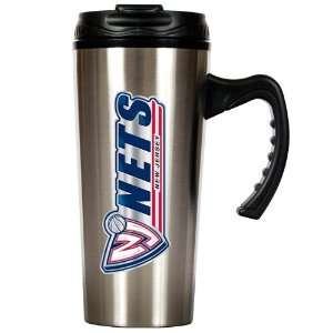 Sports NBA NETS 16oz Stainless Steel Travel Mug/Stainless