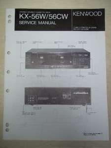 Service/Repair Manual~KX 56W/56CW Cassette Deck~Original