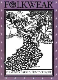 Spanish Flamenco Dance Dress & Practice Skirt Pattern