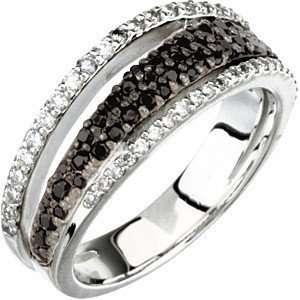 Black Spinel & Diamonds   14 kt White Gold Gemstone Ring for SALE(7
